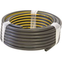 """10mm (3/8"""") Air Line Hose - Black Rubber with Yellow Stripe, image"""