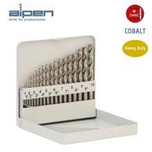 ALPEN Cobalt HSS Jobber Drill Set - Metric - 19 Pieces - (1.0mm to 10mm), image