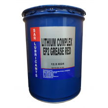 SAR Lubricants Red Lithium Complex EP2 Grease - LRT Lubricants