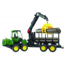 John Deere 1210E forwarder with 4 trunks and grab 1:16, image
