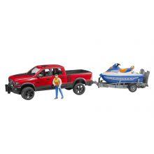 RAM 2500 Power wagon, trailer, jetski and driver 1:16, image
