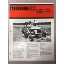 Case 1290 Tractor Sales Brochure, image