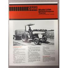 Case 1194 Tractor Sales Brochure, image