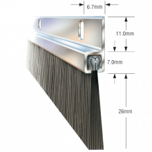 "BRISTLE STRIP (36""/914mm) BOTTOM DOOR SEAL 44MM BRISTLE, image"