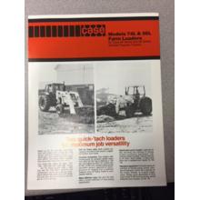 Case 74L & 56L Loader Sales Brochure, image