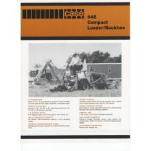 Case 648 Compact Loader Backhoe Sales Brochure, image
