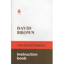 David Brown 1200 Selectamatic Operators Manua, image