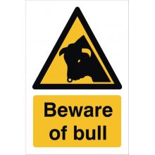 Beware Of Bull Sign, image