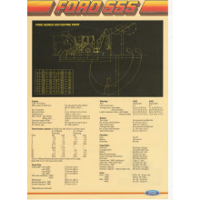Ford 555 Centre Pivot Loader/Backhoe Spec She, image