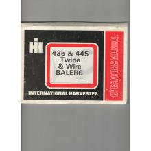 International 435 & 445 Baler Operators Manua, image
